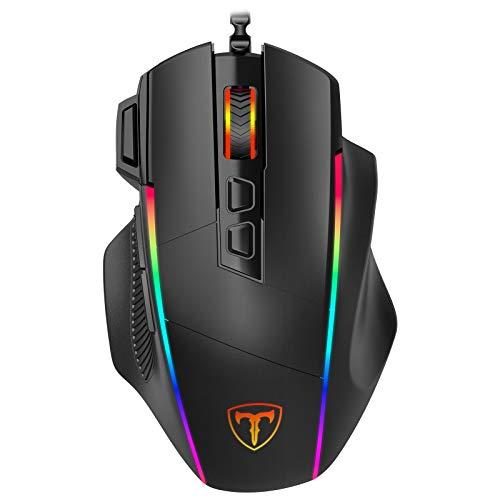 Gaming Maus, Ergonomisch RGB Maus, Holife 8000DPI & 8 programmierbar Tasten,...