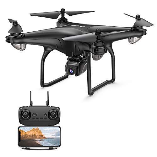 Potensic D58 GPS Drohne RC Quadrocopter mit 1080P HD Kamera, 120° Weitwinkel, 5G WiFi FPV Live Übertragung, Automatisch Rückkeh, Follow Me,...