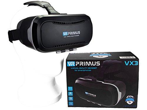VR Primus® VX3 VR Brille, kompatibel mit iPhone und Android Handy 's bis 5.8 Zoll z.B. iPhone SE 6 6s 7 8 X XS, Samsung Galaxy S6 S7 S8 S9, Huawei...