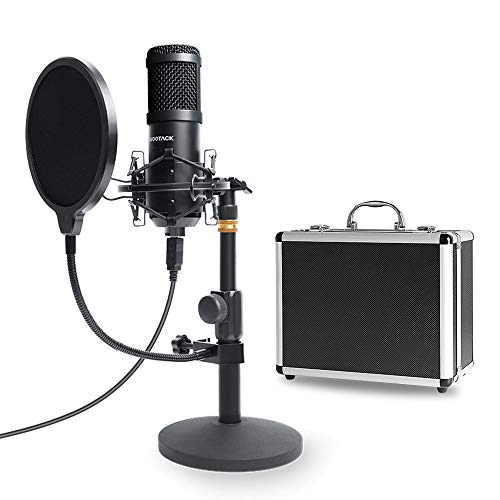 USB Mikrofon Kit mit Aufbewahrungskoffer aus Aluminium, SUDOTACK Professionelles...