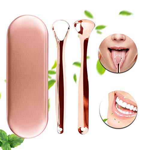 Zungenreiniger Zungenschaber Xpassion medizinischer Zungenreiniger aus Edelstahl gegen Mundgeruch und für Frischer Atem mit Etui für Mundpflege...