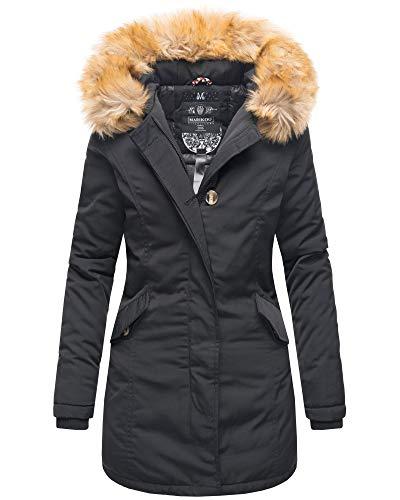 Marikoo Damen Winter Jacke Parka Mantel Winterjacke warm gefüttert B362...