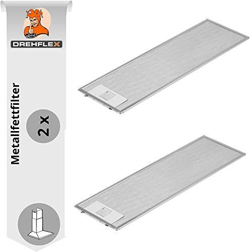 Spares2go Universal Dunstabzugshaube Metall Fettfilter Silver, 320 x 260mm 2 st/ück