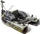 Black Cat Battle Boat Set - Bellyboot + Elektromotor zum aktiven Welsangeln,...