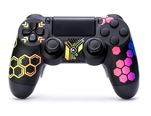 AimControllers PS4 Custom Wireless Controller, PlayStation 4 Personalized Gamepad with 4 Paddles, Hive [video game]