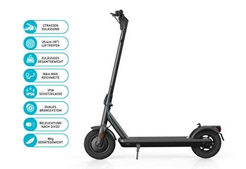 ODYS αlpha X10 Faltbarer E-Scooter mit Straßenzulassung (max. Geschwindigkeit 20 km/h, bis zu 30 km Reichweite, max. Belastung 120 kg, 10'...