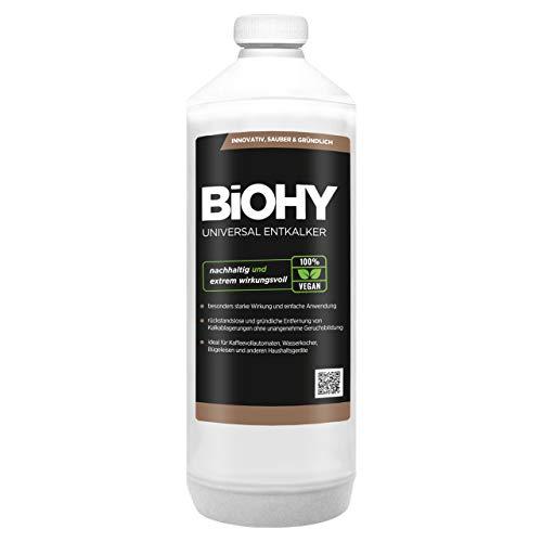 BIOHY Universal Entkalker (1l Flasche)   Konzentrat für 20 Entkalkungsvorgänge pro Flasche   Kompatibel mit Allen Kaffeevollautomaten &...