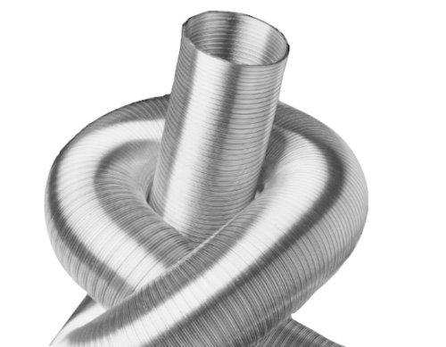Weedness Abluftschlauch Isoliert Isoflexrohr 100 mm 1 Meter Sono Schallged/ämmt Schlauch Flexrohr L/üftungsrohr L/üftungsschlauch Klimaschlauch