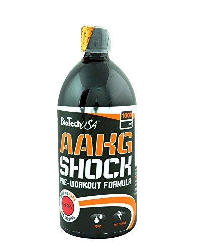 BioTech USA AAKG Shock (6000) 1000ml Cherry, пакет 1er (1 x 1 л)