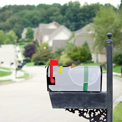YXUAOQ Süße Boba Grüntee Trinken Standardgröße Original Magnetic Mail Anschreiben Briefkasten 21 x 18 Zoll Mailbo Covers Primitive Mailbox Cover...