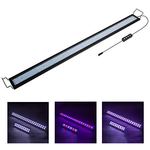 Hygger 25W Aquarium LED Beleuchtung, Aquarium LED Lampe mit Timer, dimmbare, LED Aquarium Licht mit Verstellbarer Halterung für 87cm-111cm Aquarium...