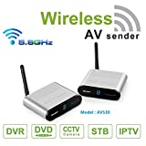 Measy AV530 5,8 GHz: n langaton AV-lähetin ja vastaanotin RCA-lähetin 8 valintakanavalla 300 metriin saakka