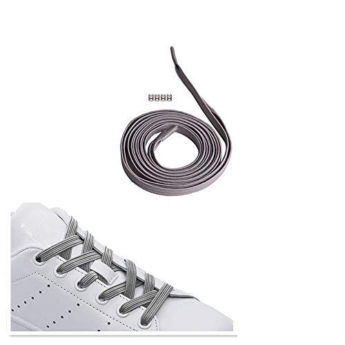 1 paar Magnetische Schnürsenkel Elastische Weiß für Kinder und Erwachsene