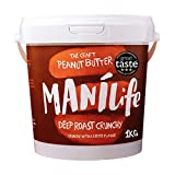 ManiLife Peanut Butter - Peanut Butter - Everything natural, a growing area, without added sugar, without palm oil - Deep Roast Crunchy - (1 x 1kg)