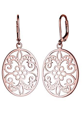 Серьги Elli Женские серьги Elli с орнаментом Oriental Floral Romantic в серебре 925
