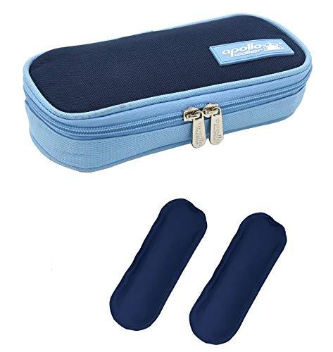 DCCN Insulin Kühltasche Diabetiker Tasche für Medikamente Thermotasche aus Oxford-Stoff und Alufolien mit 2 Kühlakkus