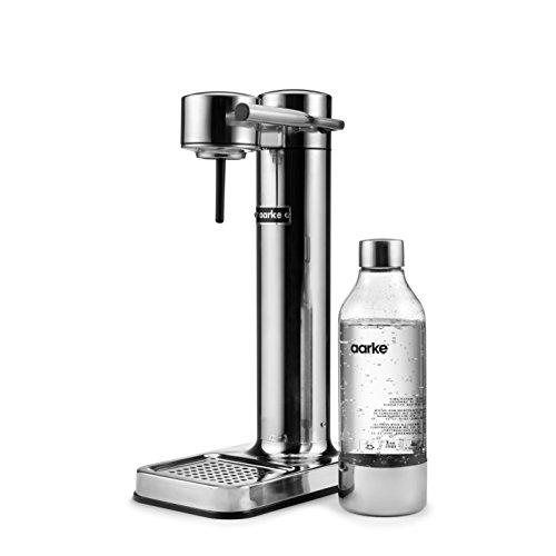 Aarke Carbonator II Wassersprudler (Edelstahl Gehäuse, Soda Sprudelwasser, inkl. BPA-freie PET-Flasche , kompatibel mit CO2 Sodastream Zylindern)...
