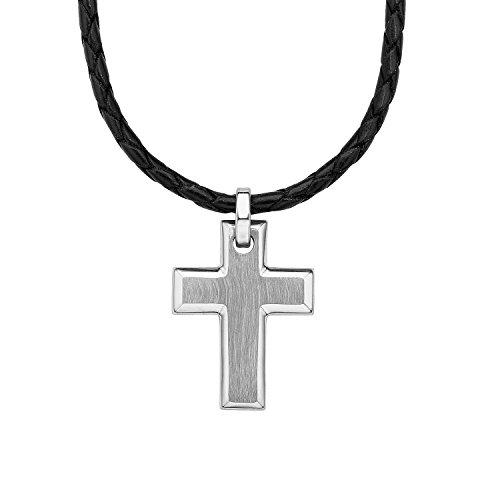 Nuevo colgante cruz de acero inoxidable mate y brillo de alta calidad calidad Top
