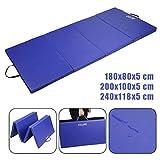 CCLIFE gym mat, soft floor mat, foldable for at home, fitness mat, exercise mat, non-slip sports mat, play mat
