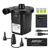 Elektrisk luftpumpe med batteri, AGPtEK elektrisk pumpe med hurtigfylling og ...