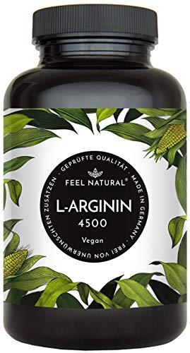L-аргинин - веганские капсулы 365 с растительным L-аргинином 4500mg от ферментации (из которых чистый L-аргинин 3750mg) на суточную дозу - без добавок, ...