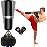 ZILINGO free-standing punching bag standing punching bags, heavy punching bag stand with boxing gloves, MMA ...