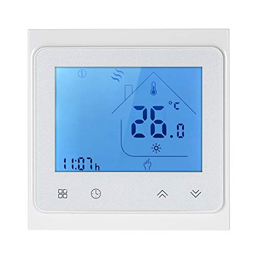 Decdeal Raumthermostat 5A Programmierbare WiFi LCD Digital Display Touchscreen...