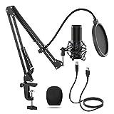 TONOR Q9 USB Microphone Condenser Microphone Kit Cardioid polar pattern