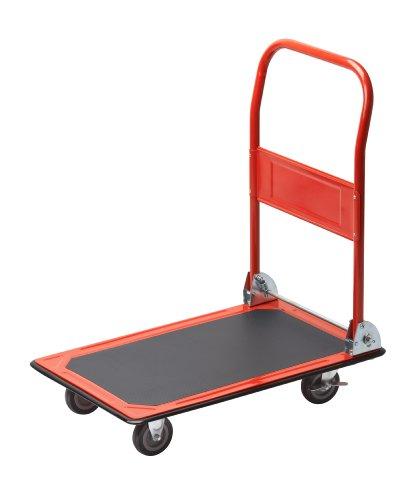 Meister Plattformwagen - Klappbar - Bis 150 kg Tragkraft - Feststellbremse / Transporthilfe mit Lenkrollen / Paketwagen mit Antirutsch-Beschichtung /...