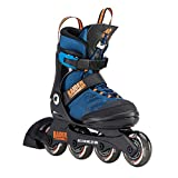 K2 Inline Skates RAIDER PRO for boys with K2 Softboot, Black - Blue - Orange, 30D0221