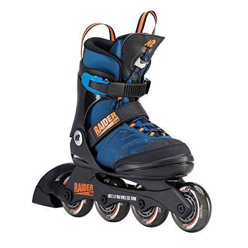 K2 Jungen Inline Skates RAIDER PRO - Schwarz-Blau-Orange - L (35-40 EU; 3-7 UK;...
