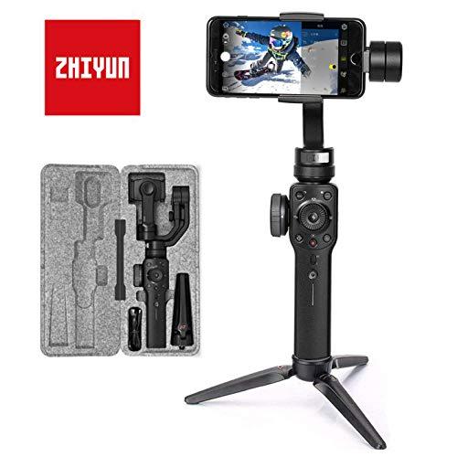 Zhiyun Smooth 4 Smartphone Gimbal Handy Stabilisator 3-Achsen Handheld Stabilizer bis zu 210g für iPhone 11 Pro (Kein Max) X XS Max XR 8 7 Plus SE,...
