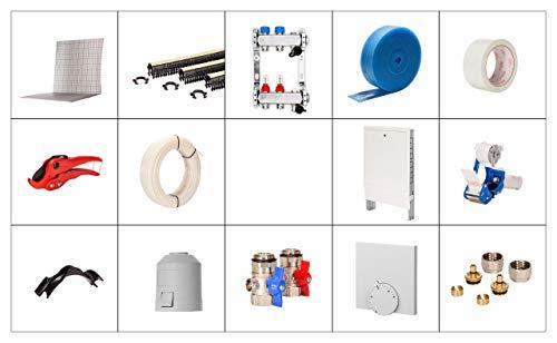 1 m/² Fu/ßbodenheizung Parkett//Laminat Komplett-Set AZ-150 touch