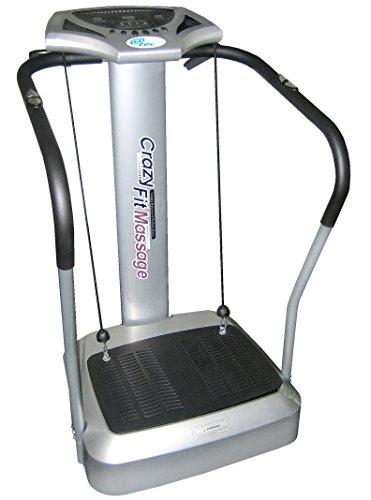 @tec Vibrationsplatte, Vibration Trainings-Gerät für Bauch Beine Po Crazy-FIT-Massage - effektiver Vibrationstrainer - 4 Programme - 2...