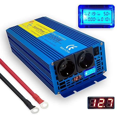 Transformateur de Tension 12v 1500 3000 Watt Sinusoïdale Pure Incl.