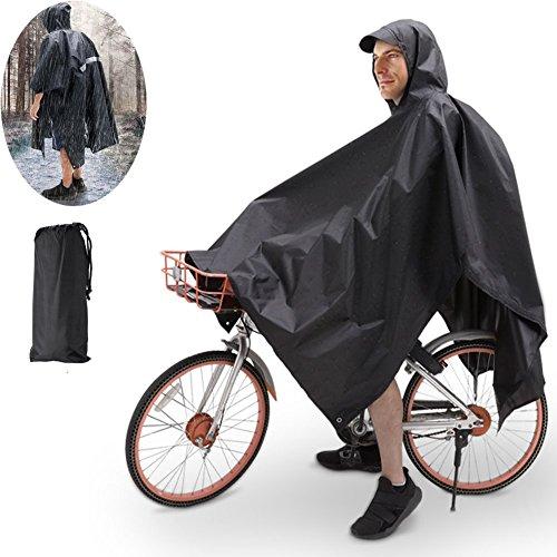 TBoonor Handschlaufen Fahrrad Poncho Premium Regenponcho mit Verstellbarer Kapuze reißfestes und Wasserdichtes Regenjacke Regenponcho Fahrrad...
