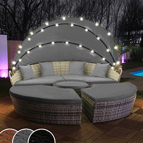 Swing & Harmonie Polyrattan Sonneninsel mit LED...