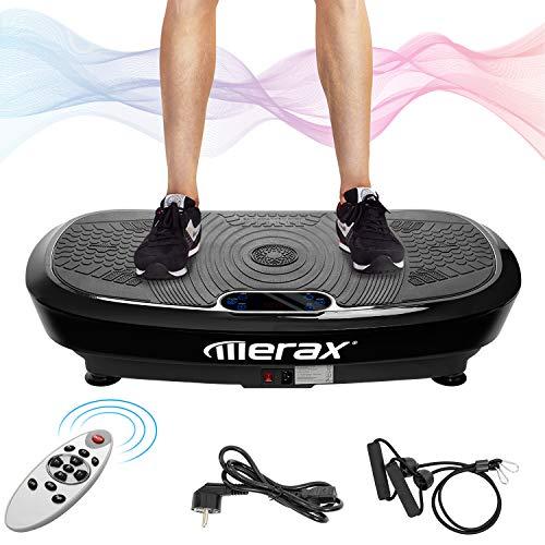 Merax Profi Vibrationsplatte 3D Wipp Vibration Technologie + Bluetooth Musik, Riesige Fläche, 2 Kraftvolle Motoren + Einmaliges Design +...