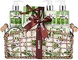 BRUBAKER Beauty Set Bath and Shower Set Aloe Vera - 13-piece gift set in a decorative basket