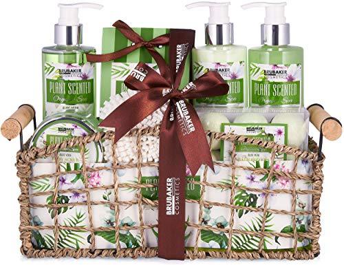 BRUBAKER Beautyset Bade- und Dusch Set Aloe Vera - 13-teiliges Geschenkset in...