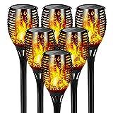 Светодиодные садовые фонари FLOWood, 2 в 1, садовое пламя на солнечной батарее IP65 ...
