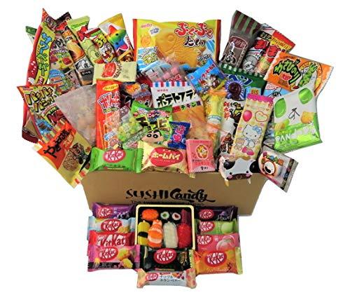 60 japanische Süßigkeiten & Snacks 10 Sushi Süßigkeitenboxen Set Amezaiku 10...