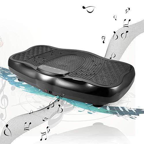 ANCHEER Vibrationsplatte 3D Ganzkörper Trainingsgerät rutschfest, Unisex-Adult Vibrationsgerät mit LCD Display & USB Schnittstelle Lautsprecher |...