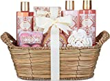 BRUBAKER Cosmetics bath and shower set apricot and pomegranate fragrance - 11-piece gift set in ...