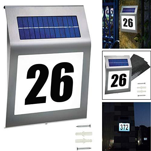 Wasserdicht Solarhausnummer Aussen Solar Beleuchtete Hausnummer KEEDA Solar Hausnummerleuchte