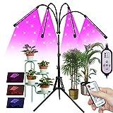 Pflanzenlampe LED mit Ständer, 4 Köpfe Vollspektrum Grow...