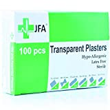 JFA Wasserfeste Pflaster, transparent, 6 verschiedene Größen, 100 Pflaster pro...