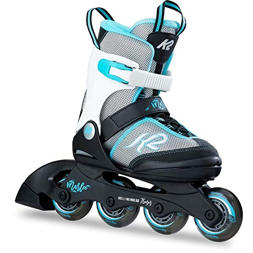 K2 Skates Mädchen Inline Skate Marlee — black - grey - light blue — L (EU:...