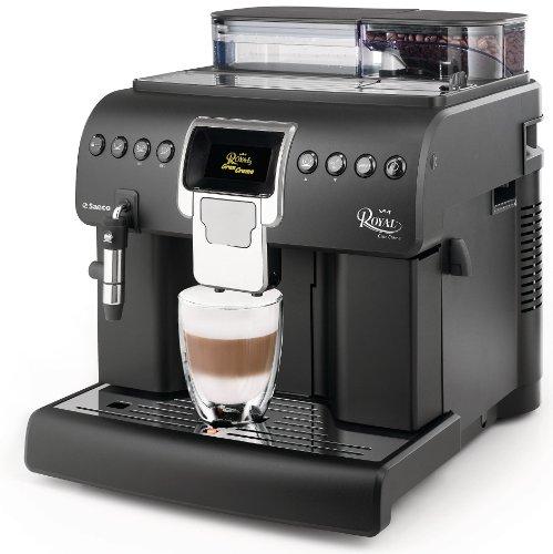 Saeco HD8920/01 Kaffee-Vollautomat Royal Gran Crema (Cappuccinatore, Memo-Funktion, Tassenwärmer, große Kapazitäten, 1.400 W) matt-schwarz