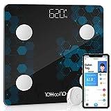 YOHOOLYO Körperfettwaage Smart Digitale Körperanalysewaage...